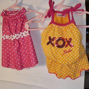 2 SM Posh Pet Apparel Outfit Apparels XOXO Flowers